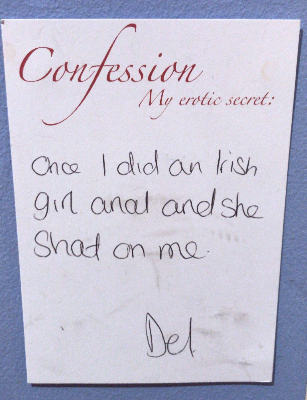 Sex confession from Red Light District, Amsterdam.