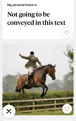 Hinge profile man jumping over horse